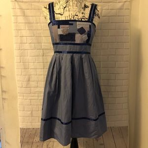 Anthropologie Silence + Noise patchwork dress